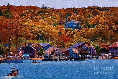 New England Fall Coastline Print by Kirt Tisdale