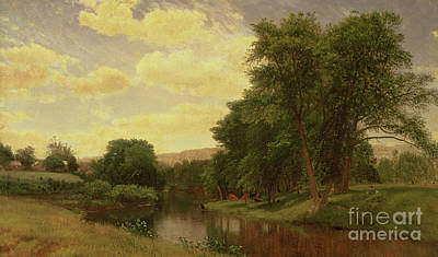 Connecticut Painting - New England Landscape by Aaron Draper Shattuck