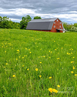 New England Dairy Farms Photograph - New England Landscape by Edward Fielding