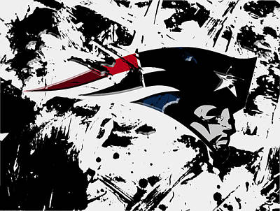 Falcon Mixed Media - New England Patriots 1d by Brian Reaves