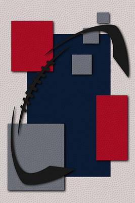 Nfl Sports Painting - New England Patriots Football Art by Joe Hamilton