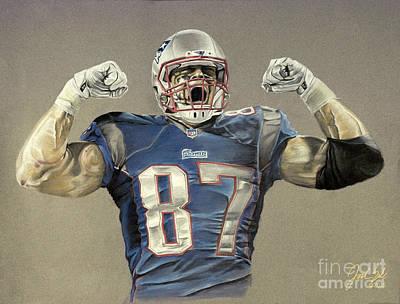 New England Patriots Rob Gronkowski  Original by Jordan Spector