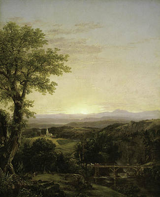 New England Scenery Print by Thomas Cole