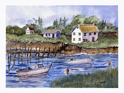 New England Shore - Marine Art Original by Barry Jones