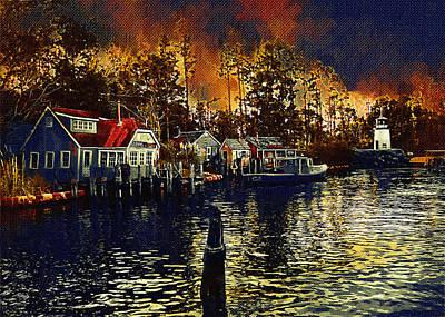 New England Town Original by Paul Bartoszek