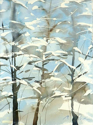 Painting - New England Winter Scape No.45 by Sumiyo Toribe