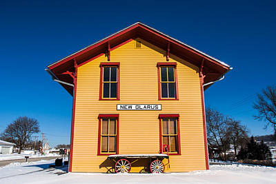 Paint Photograph - New Glarus Depot by Todd Klassy