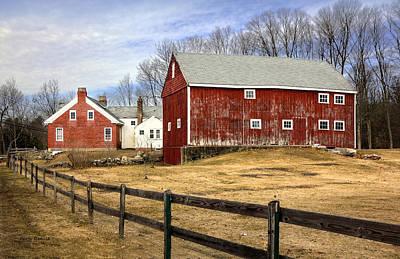 New Hampshire Farm Scene Original by Betty Denise