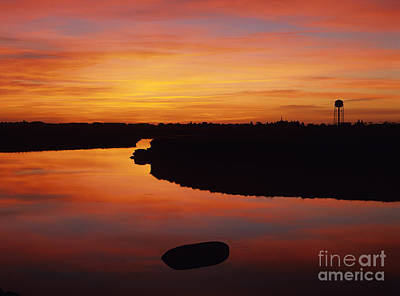 New Hampshire Salt Marsh At Sunrise Print by Erin Paul Donovan