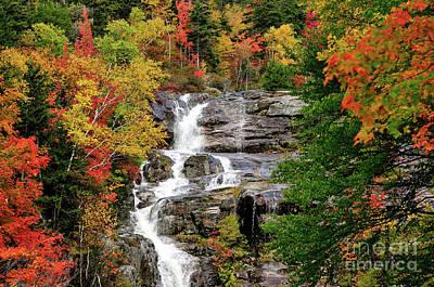 Autumn Foliage Photograph - New Hampshire Waterfall by Betty LaRue