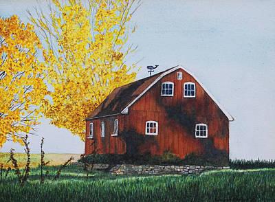 New Hartford Barn Print by Sharon Farber