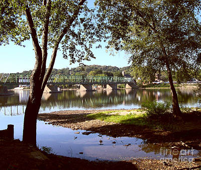Addie Hocynec Art Photograph - New Hope Lambertville Bridge by Addie Hocynec
