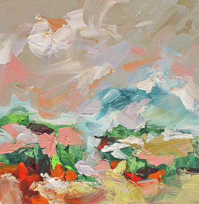 Award Winning Artist Painting - New Horizons by Linda Monfort