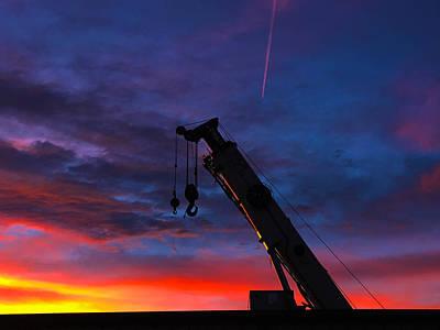 Chris Martin Photograph - New Mexico Crane Sunrise by Chris Martin