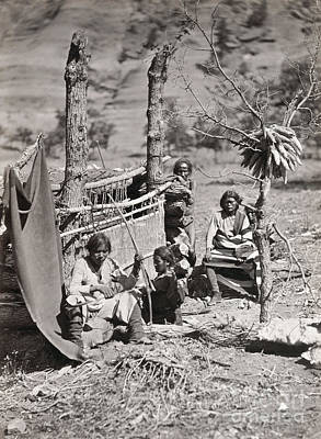 Handloom Photograph - New Mexico: Navajo, 1873 by Granger