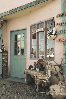 Framed Old Town Door Photograph - New Mexico Southwestern Door Decor by Andrea Hazel Ihlefeld