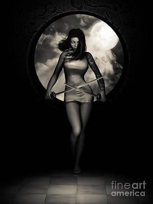 New Moon Print by Alexander Butler