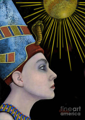 Portrait Digital Art - New Nefertiti by Carol Jacobs