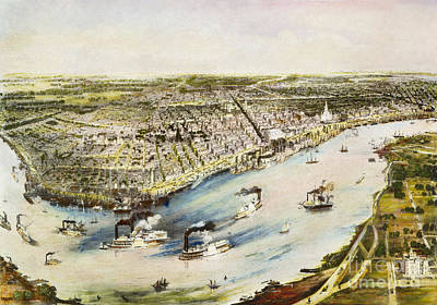 Antebellum Photograph - New Orleans, 1851 by Granger