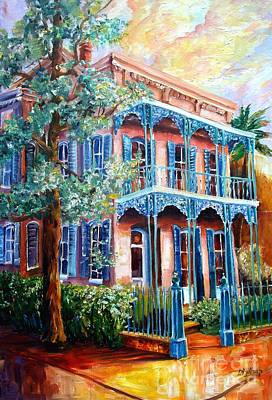 Garden Scene Painting - New Orleans Garden District by Diane Millsap