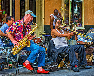 New Orleans Jazz - Paint Print by Steve Harrington