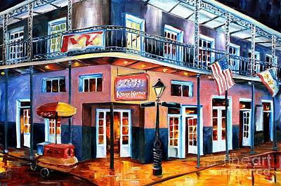 Lucky Dogs Painting - New Orleans Krazy Korner by Diane Millsap
