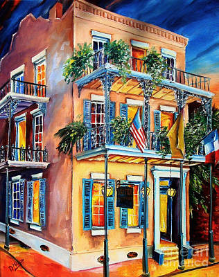 French Quarter Painting - New Orleans' La Fitte's Guest House by Diane Millsap