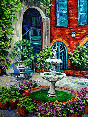New Orleans Painting Brulatour Got A Penny Print by Beata Sasik