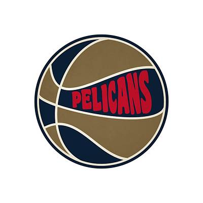 New Orleans Pelicans Retro Shirt Print by Joe Hamilton