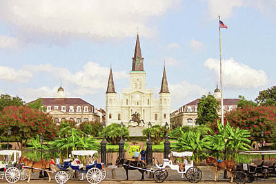 Photograph - New Orleans St. Louis Cathedral by Scott Pellegrin