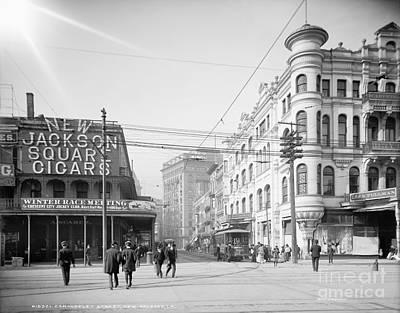 Telephone Poles Photograph - New Orleans: Street Scene by Granger