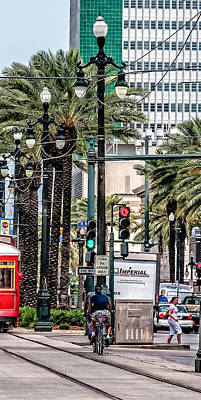 New Orleans Streetcars Triptych 2 Print by Andy Crawford