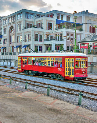 Transportation Photograph - New Orleans Trolley by Tod and Cynthia Grubbs