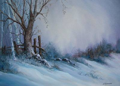 Snowscape Painting - New Snow    #85 by Frederick  Skidmore