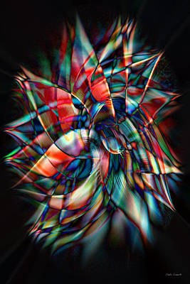 Energy Art Movement Digital Art - New Star by Linda Sannuti