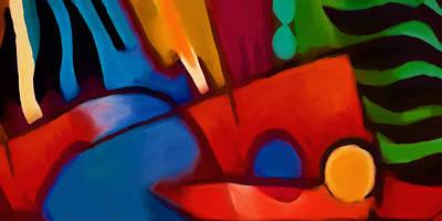 Mood Painting - New Tropicana by Lutz Baar