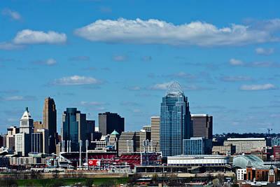 New View Of Cincinnati Print by Randall Branham