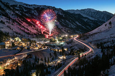 New Year's Eve At Snowbird Print by James Udall