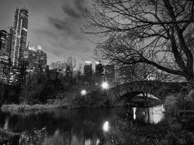 Central Park Photograph - New York - Central Park 006 Bw by Lance Vaughn