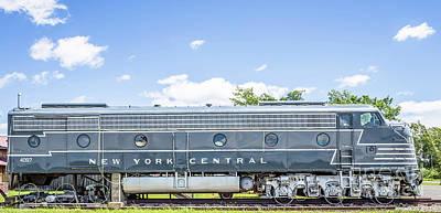 Headlight Photograph - New York Central System Locomotive Vintage 3 by Edward Fielding