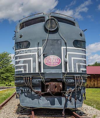 Headlight Photograph - New York Central System Locomotive Vintage by Edward Fielding