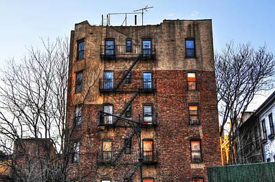 New York City Apartments Print by Randy Aveille