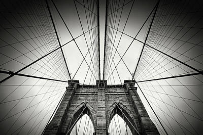 Nyc Photograph - New York City - Brooklyn Bridge by Alexander Voss