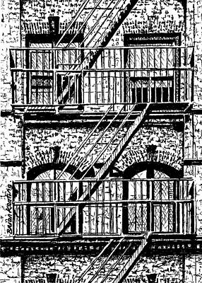 Greenwich Village Drawing - New York City Building by Brian Keating