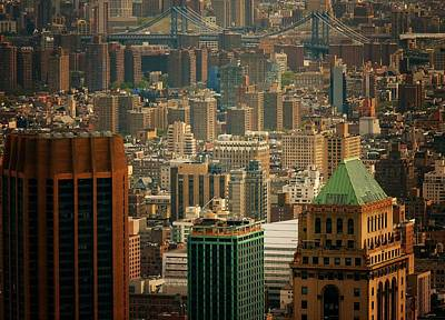 New York City Buildings And Skyline Print by Vivienne Gucwa