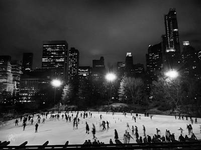 New York City - Central Park 005 Bw Print by Lance Vaughn