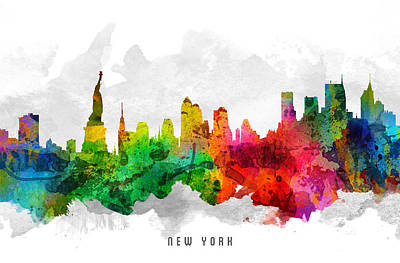 Cities Digital Art - New York City Cityscape 12 by Aged Pixel