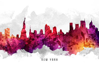 Cities Digital Art - New York City Cityscape 14 by Aged Pixel
