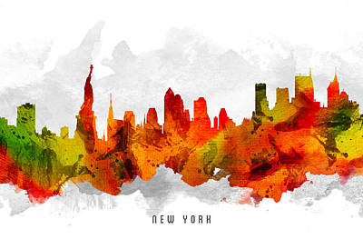 Cities Digital Art - New York City Cityscape 15 by Aged Pixel