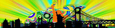 Nyc Digital Art - New York City Colors by Stefano Senise